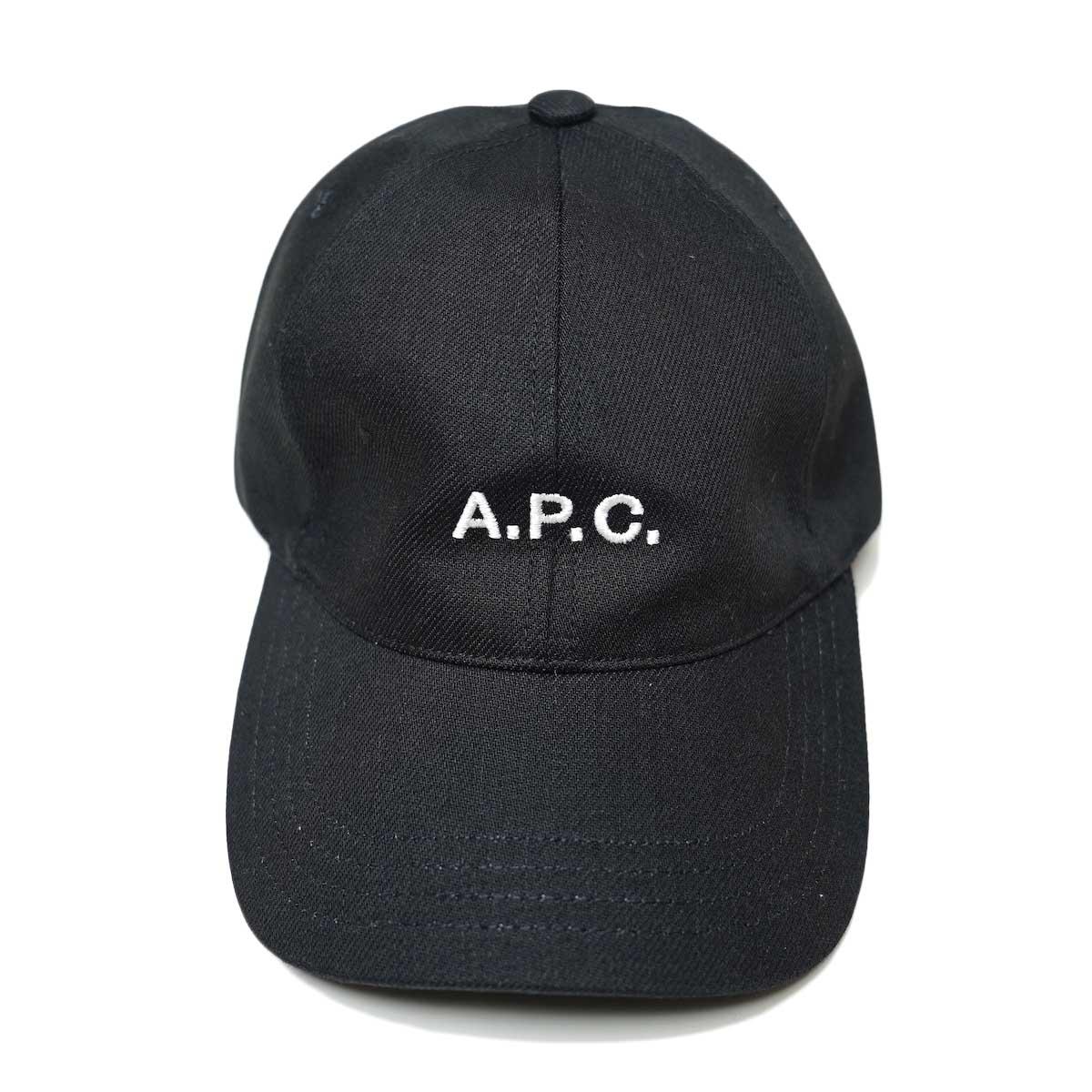 A.P.C / Charlie キャスケット (Black) 正面