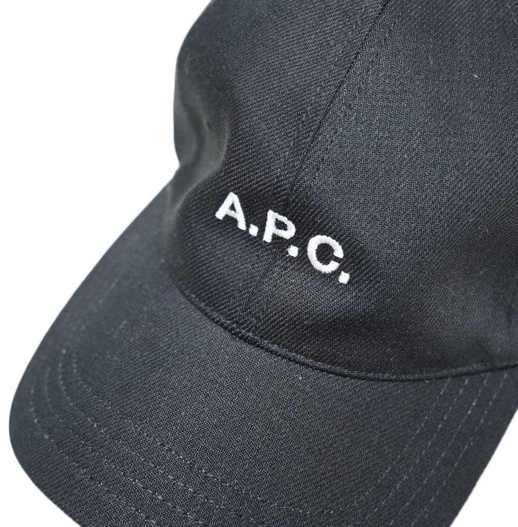A.P.C / Charlie キャスケット (Black) ロゴアップ