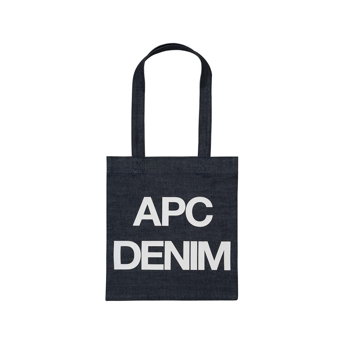 A.P.C. / TOTE BAG APC DENIM -WHITE