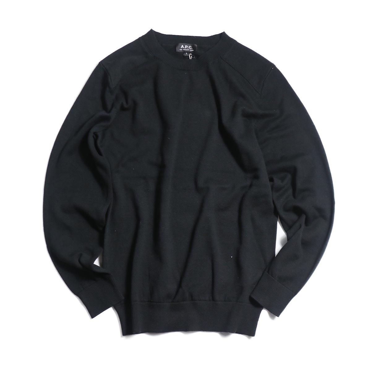 A.P.C. / Johnny Sweater -BLACK