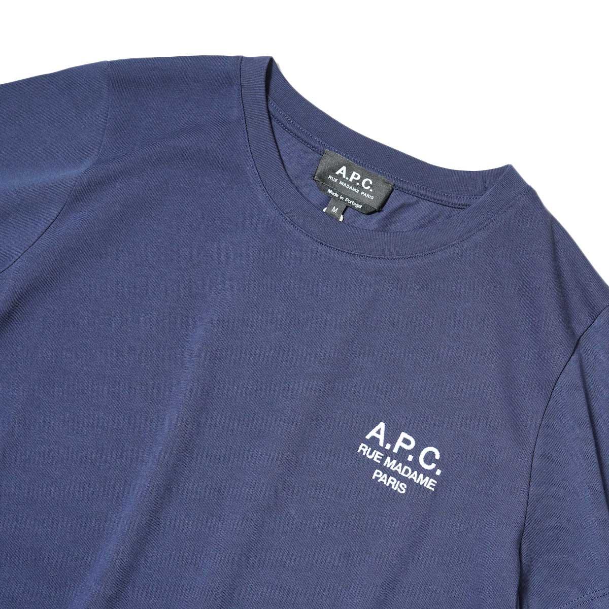 A.P.C. / Denise Tシャツ (Navy) フロント・刺繍
