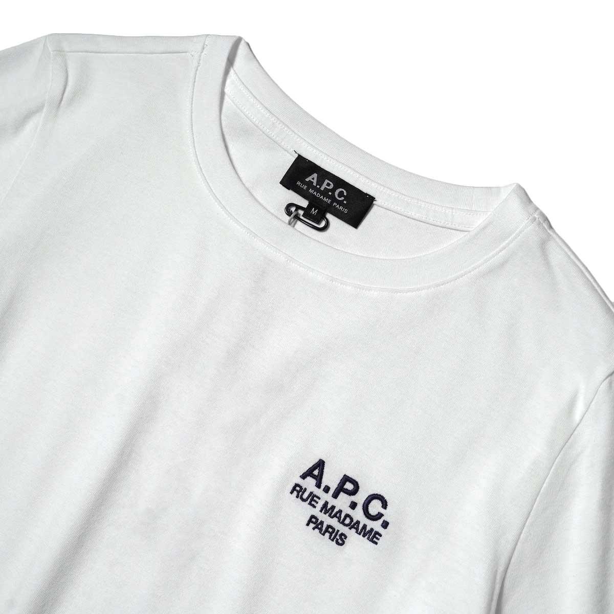 A.P.C. / Denise Tシャツ (White) フロント・刺繍