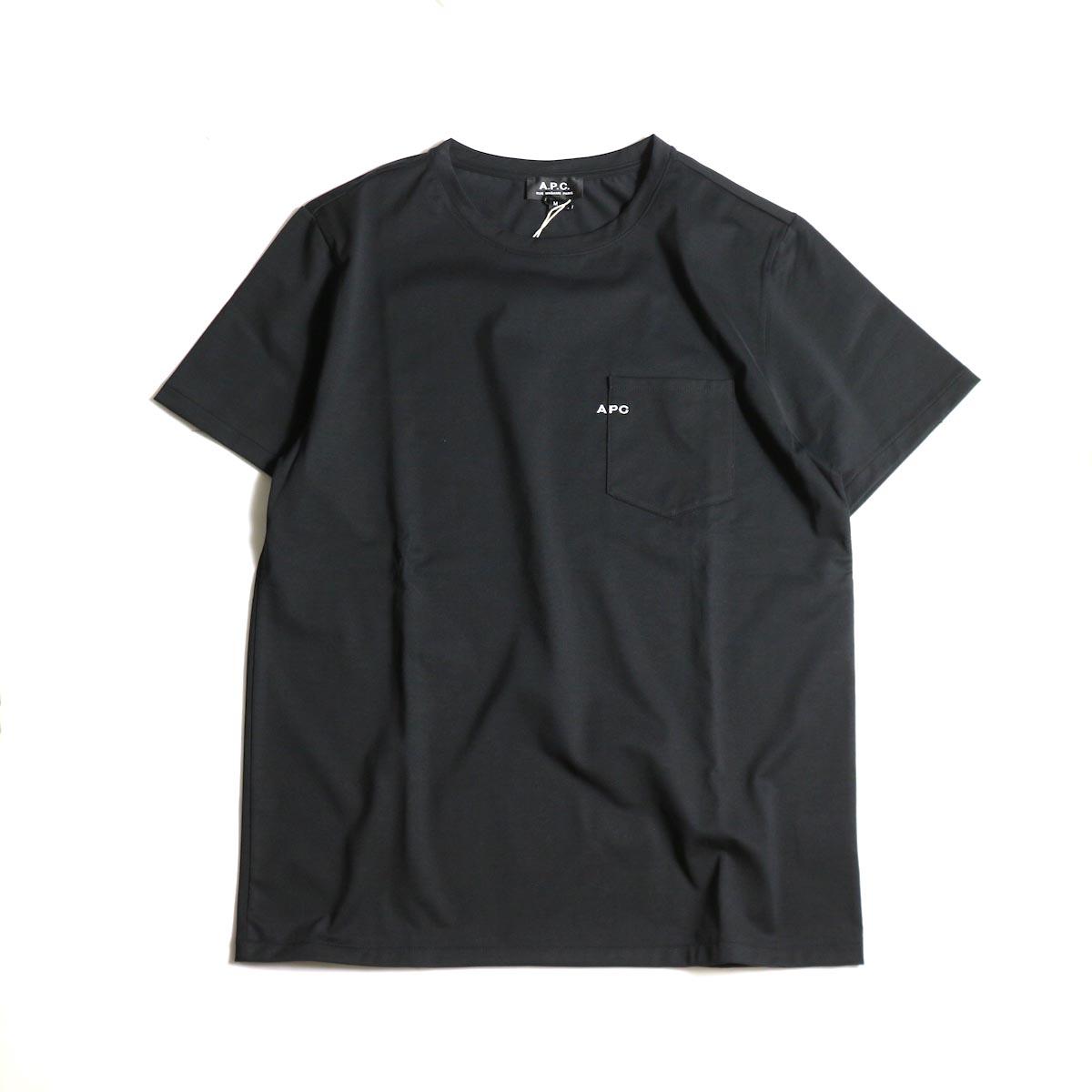 A.P.C. / Crew Neck Emb Pocket Tee -Black正面