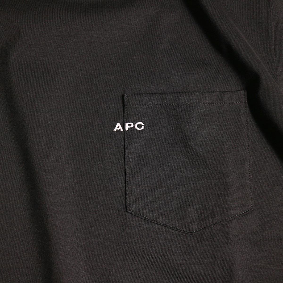 A.P.C. / Crew Neck Emb Pocket Tee -Black刺繍