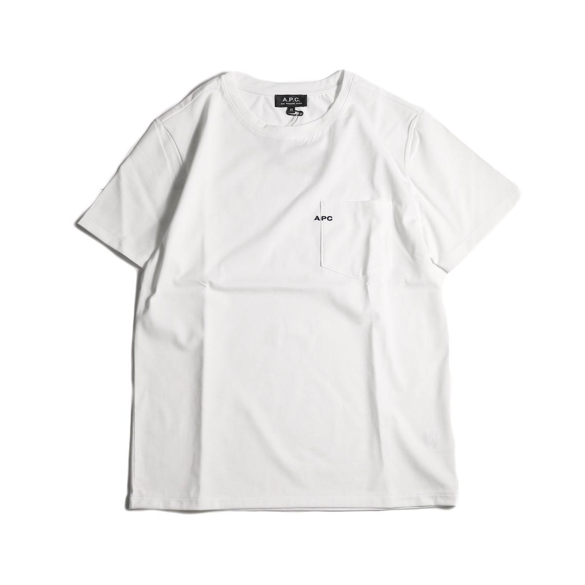 A.P.C. / Crew Neck Emb Pocket Tee -White