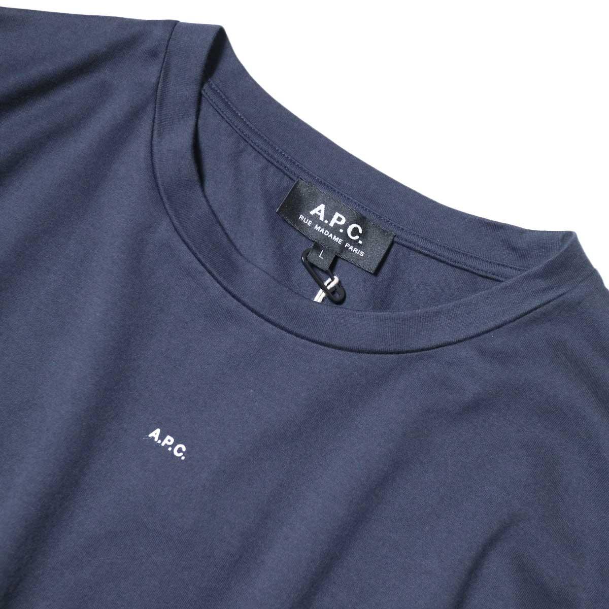 A.P.C. / Jade Tシャツ (Navy) ネック・センターロゴ