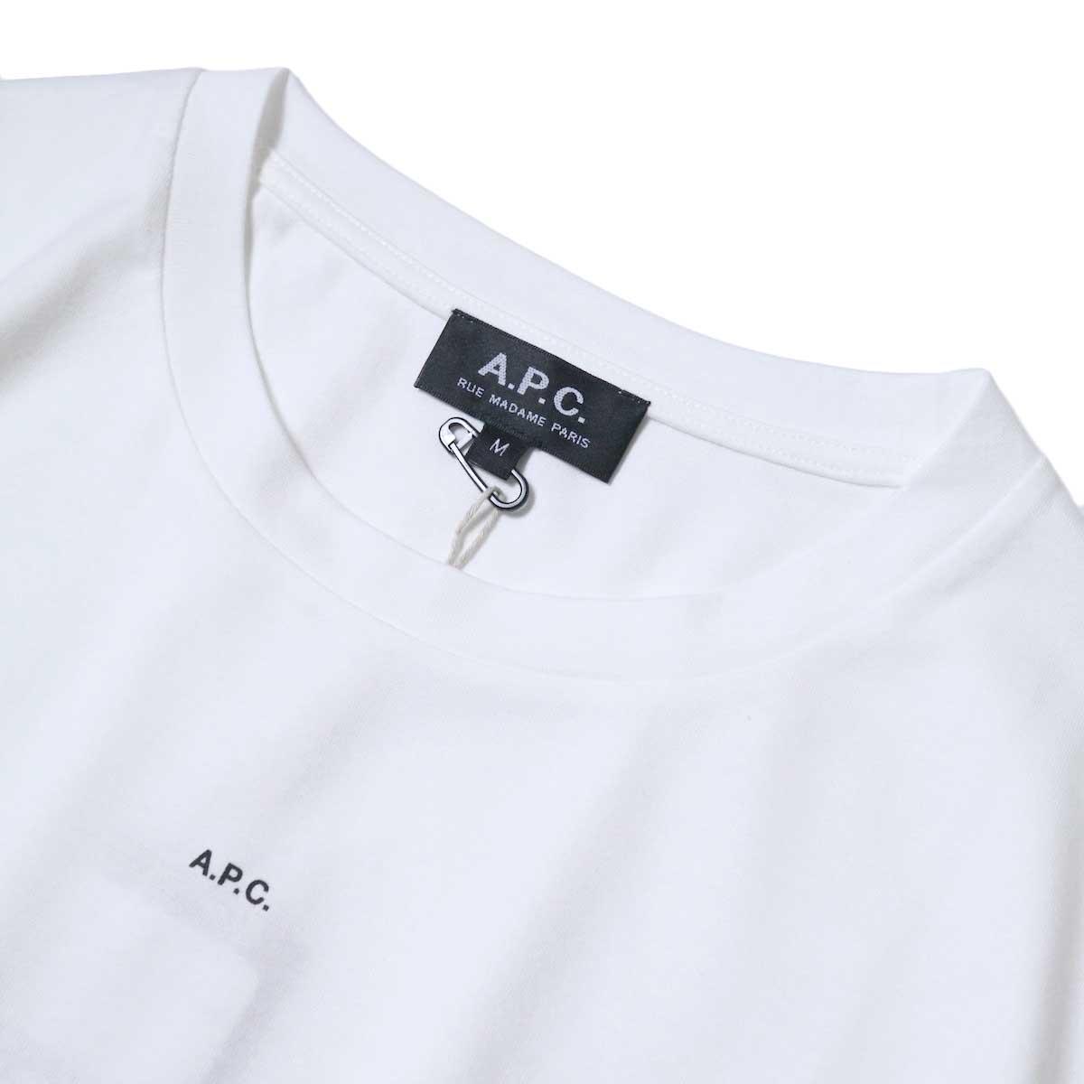 A.P.C. / Jade Tシャツ (White) ネック・センターロゴ