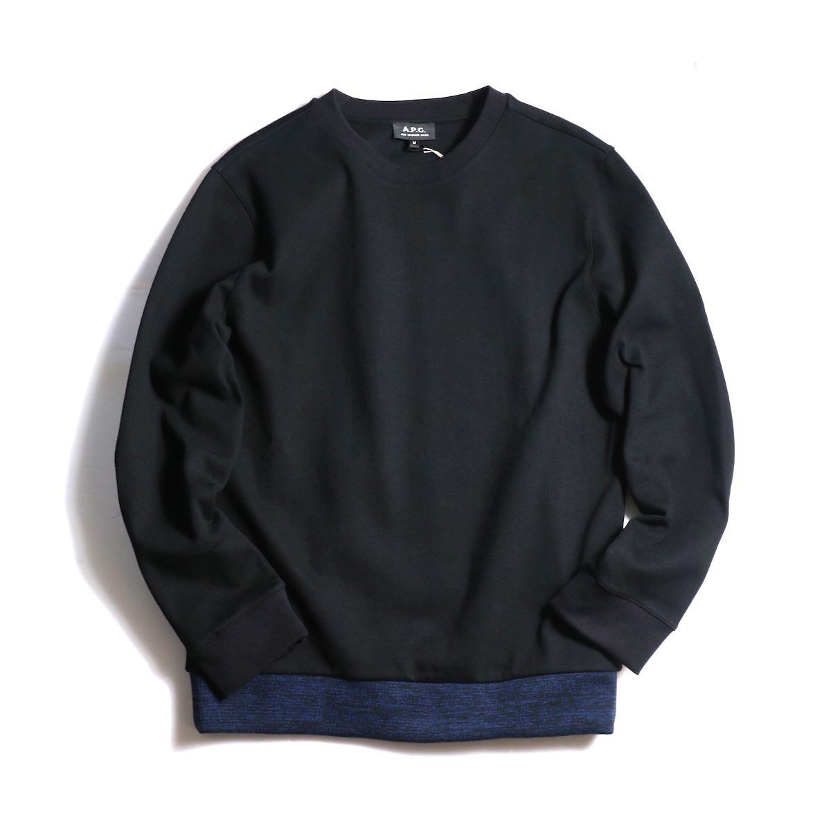 A.P.C. / Jeremie Sweat Shirt -Black
