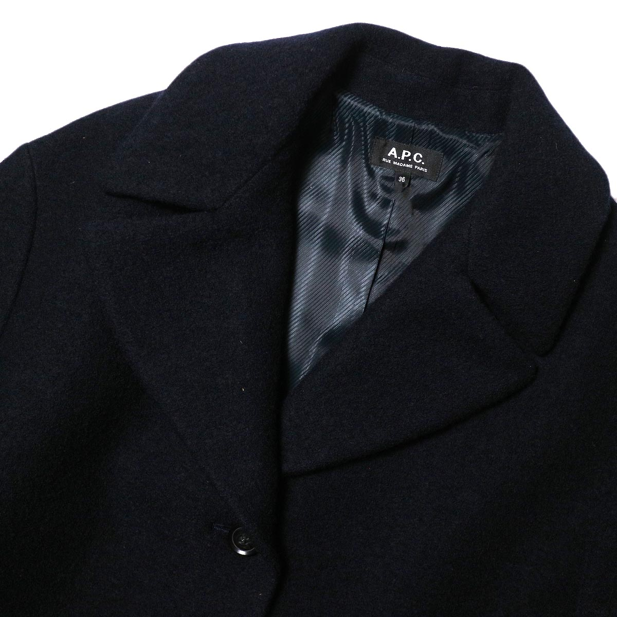 A.P.C. / NINH COAT (navy) 襟