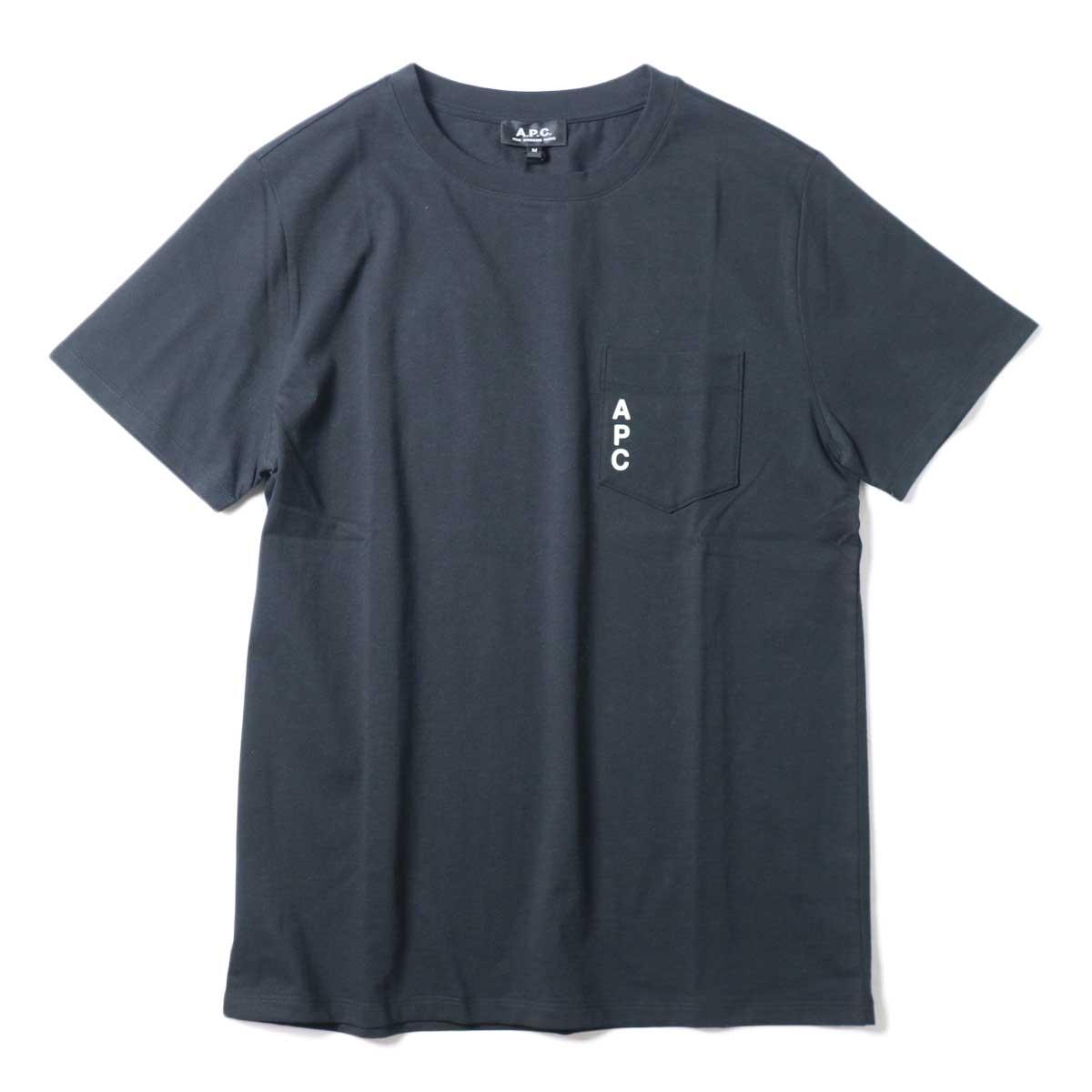 A.P.C. / Crew Neck Pocket Tee (Black) 正面