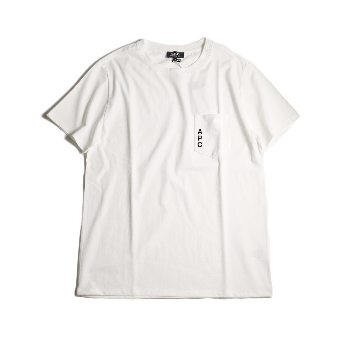 A.P.C. / Crew Neck Pocket Tee -White