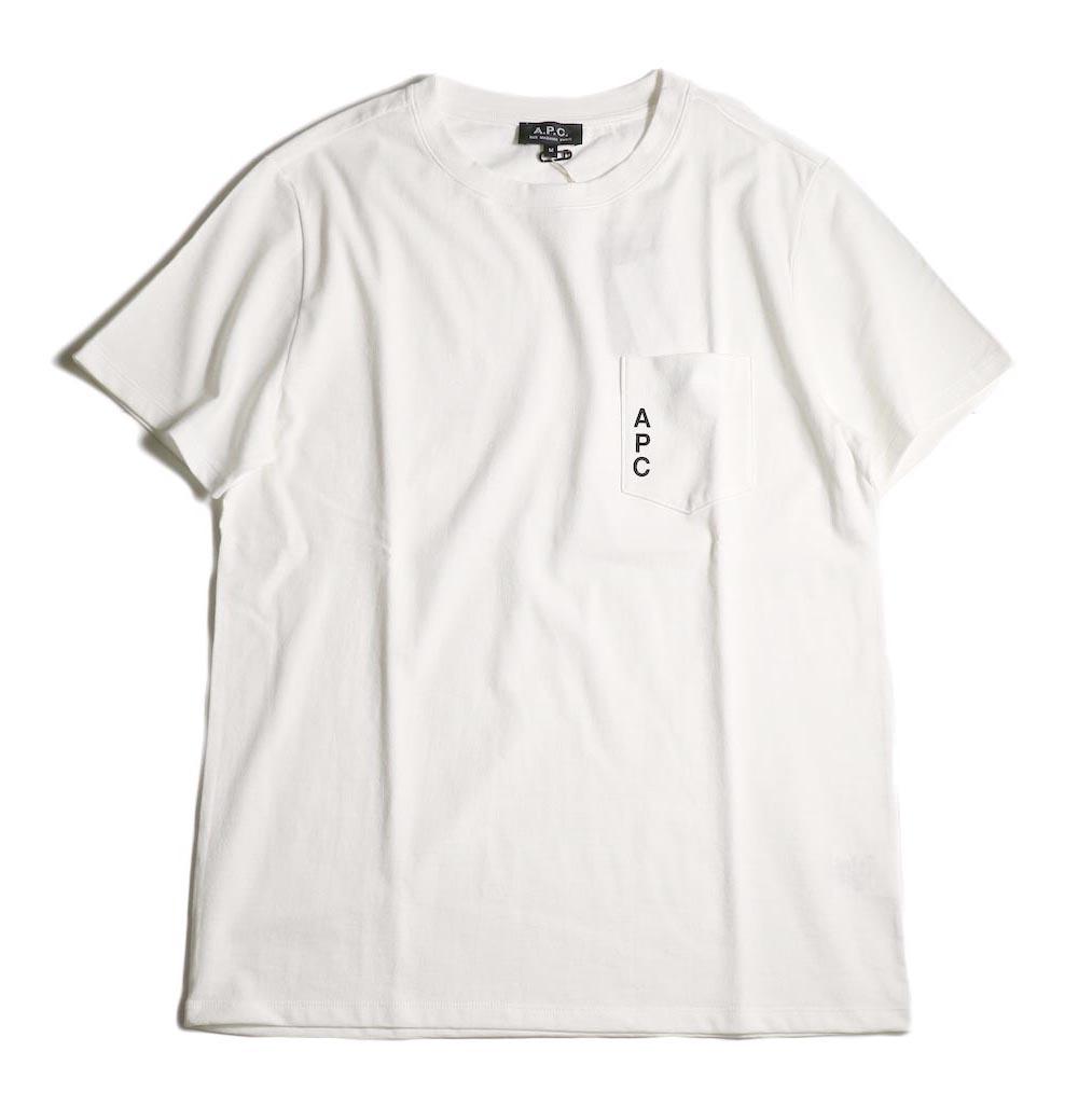 A.P.C. / Crew Neck Pocket Tee (White) 正面