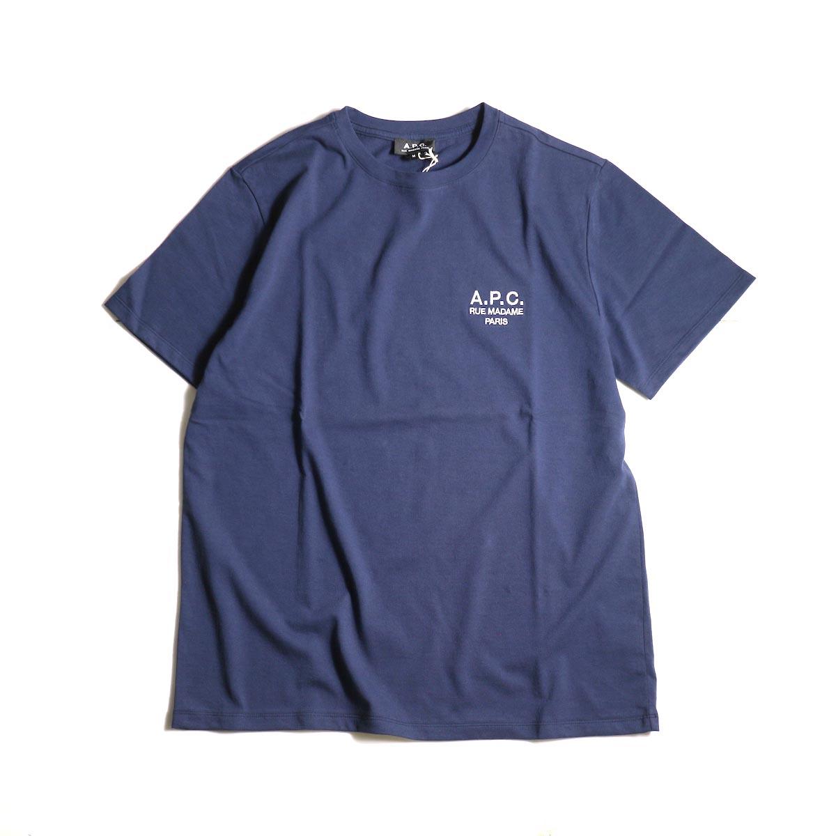 A.P.C. / Crew Neck Tee (Raymond T-shirt) -Navy正面