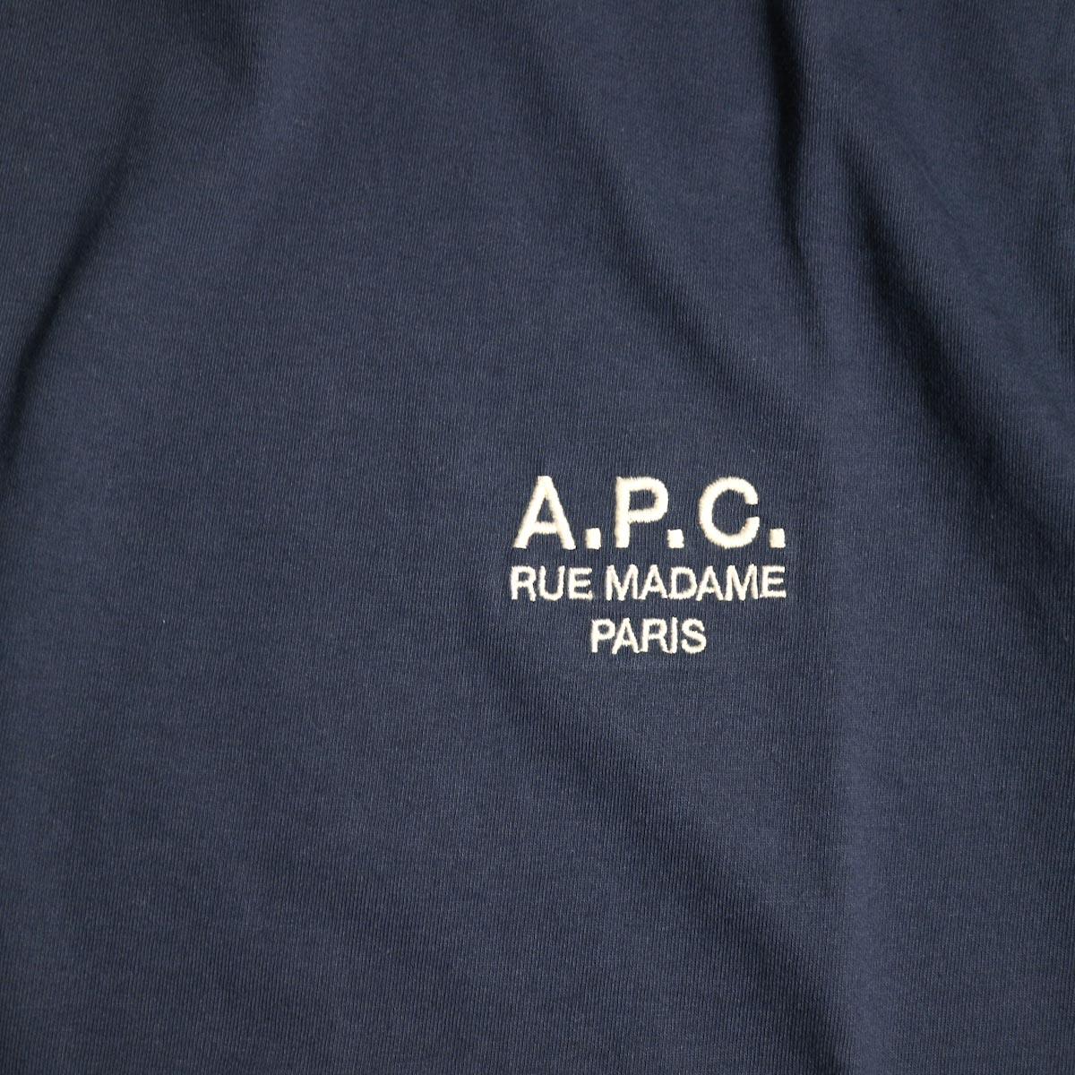 A.P.C. / Crew Neck Tee (Raymond T-shirt) -Navy刺繍