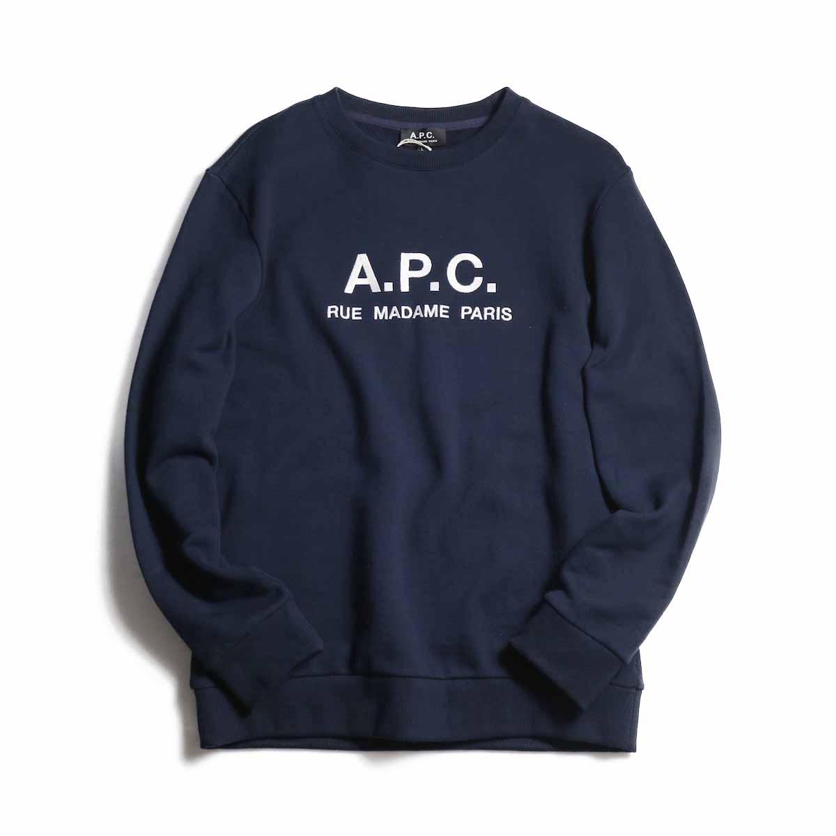 A.P.C. / Jeremie Sweat Shirt RUE MADAME PARIS -Navy