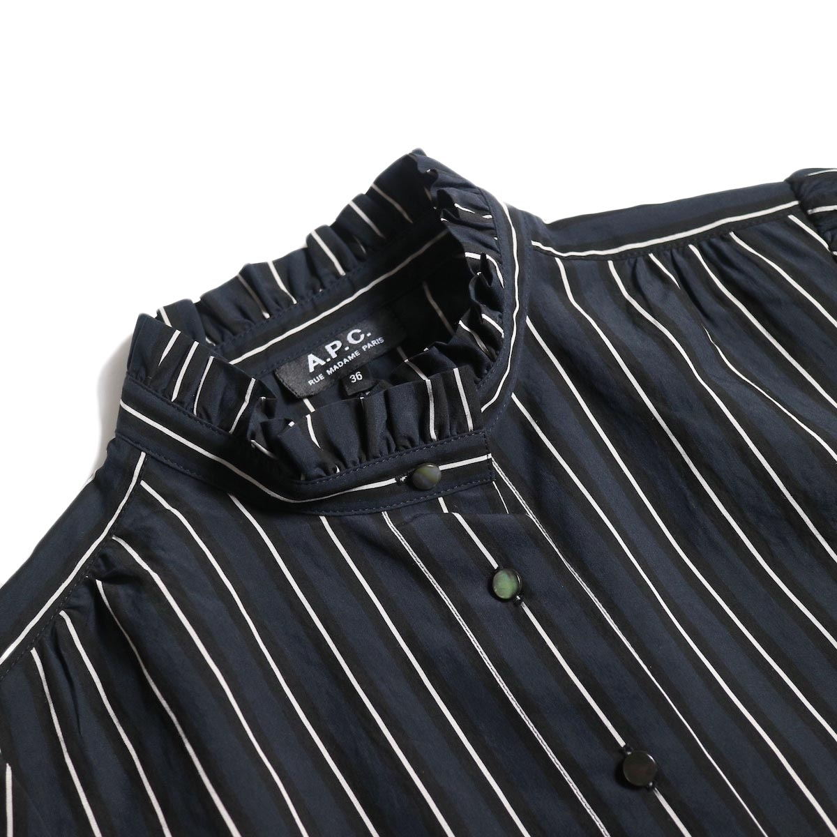 A.P.C. / St Germain ブラウス(Dk.Navy)襟