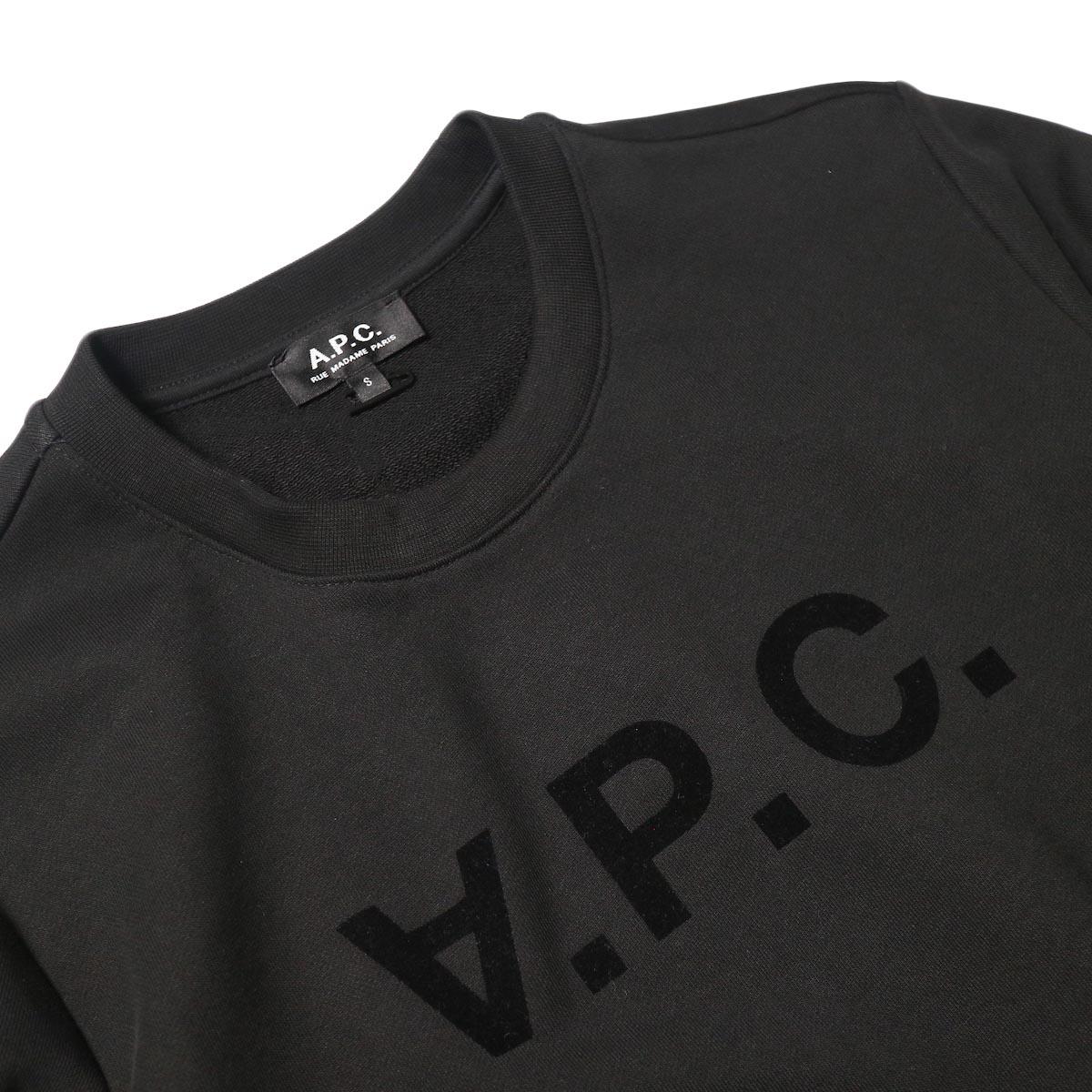 A.P.C. / VPC スウェットシャツ (black) クルーネック・ロゴ