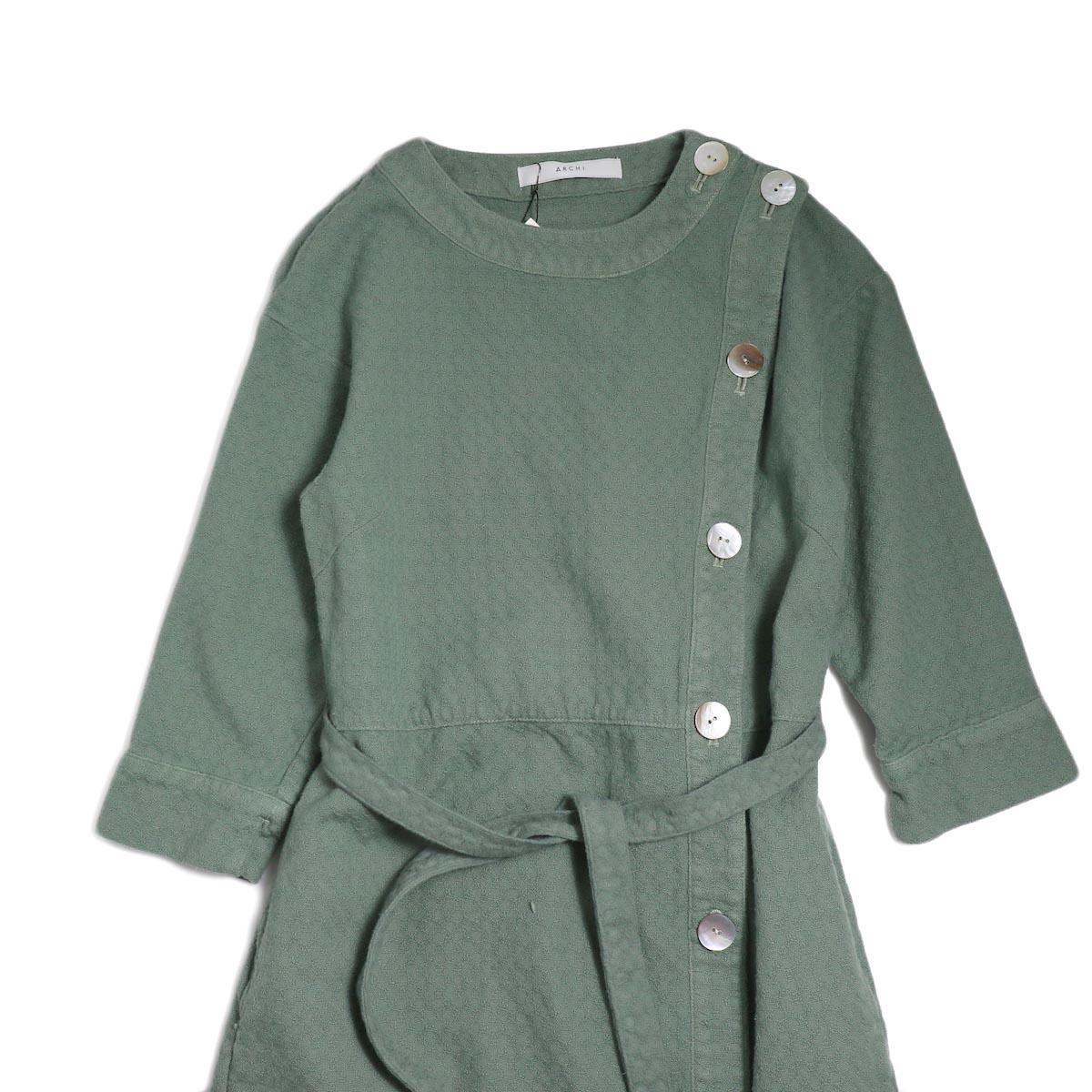 archi / Cuphea Long Shirt -Blue フロント