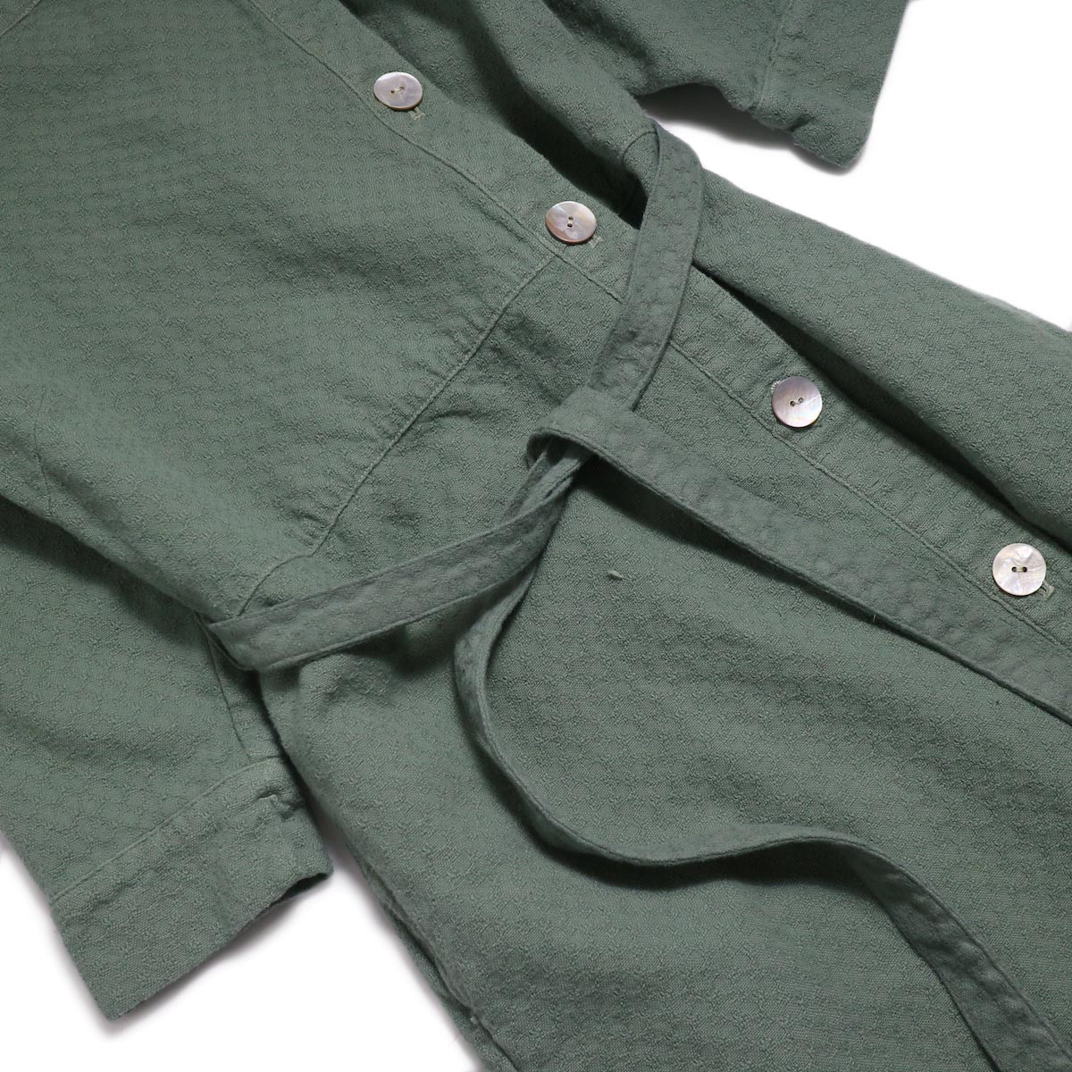 archi / Cuphea Long Shirt -Blue ウエスト