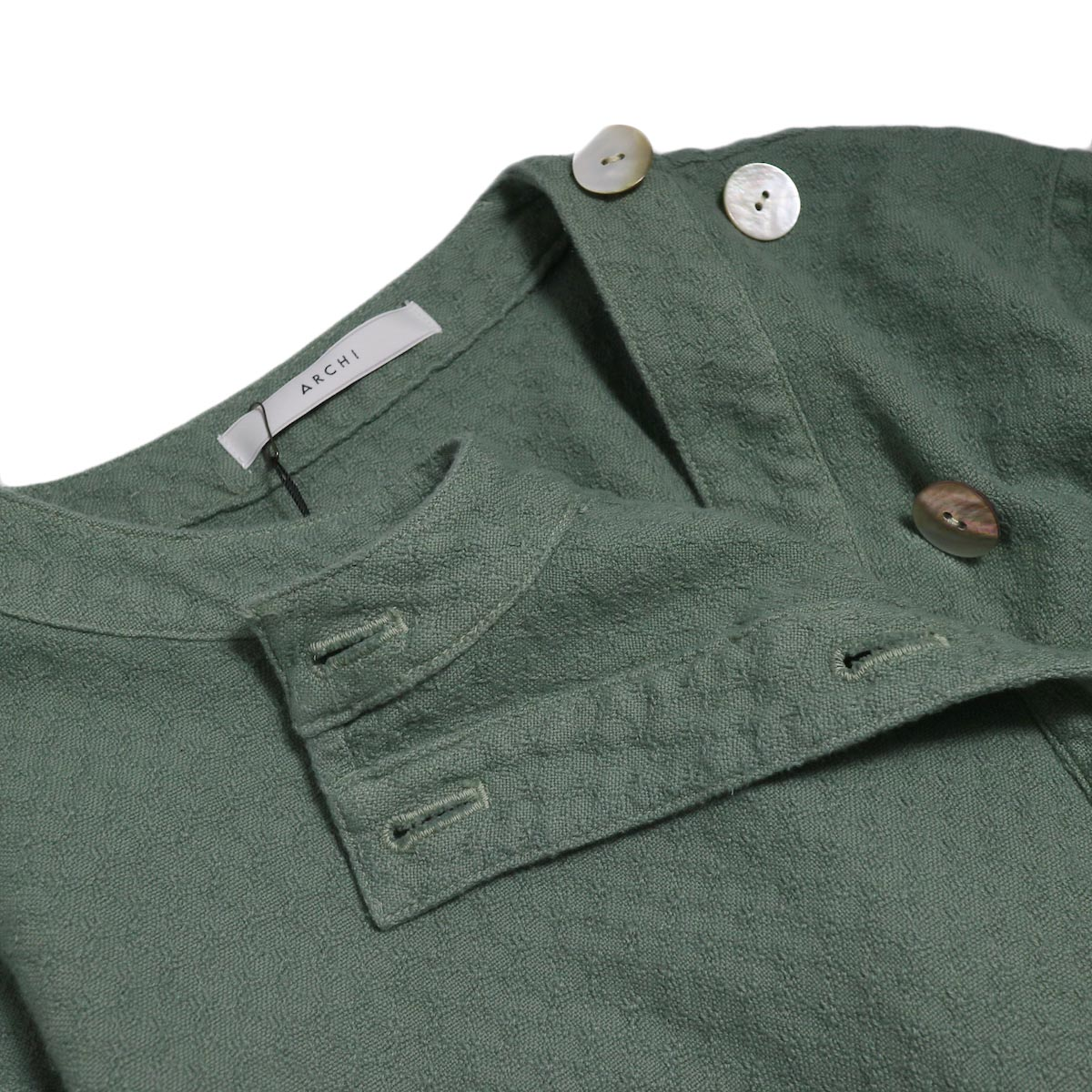 archi / Cuphea Long Shirt -Blue 襟