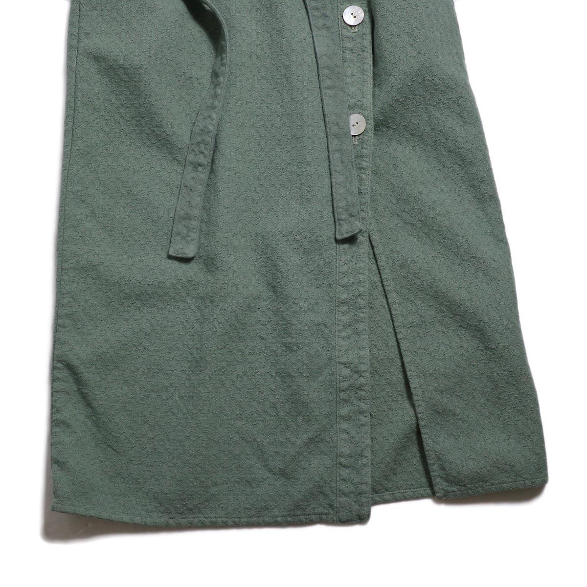 archi / Cuphea Long Shirt -Blue 裾