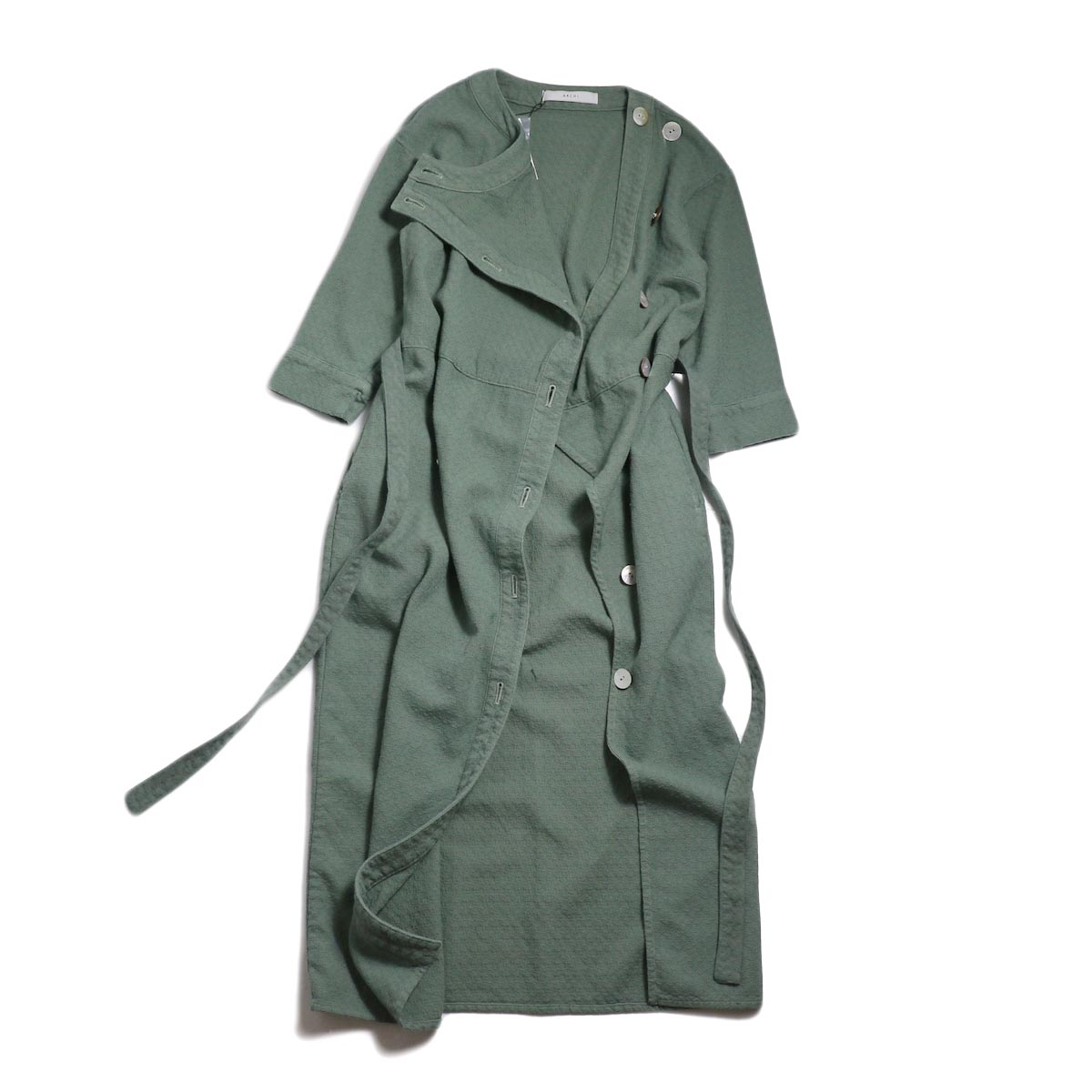 archi / Cuphea Long Shirt -Blue フロント開