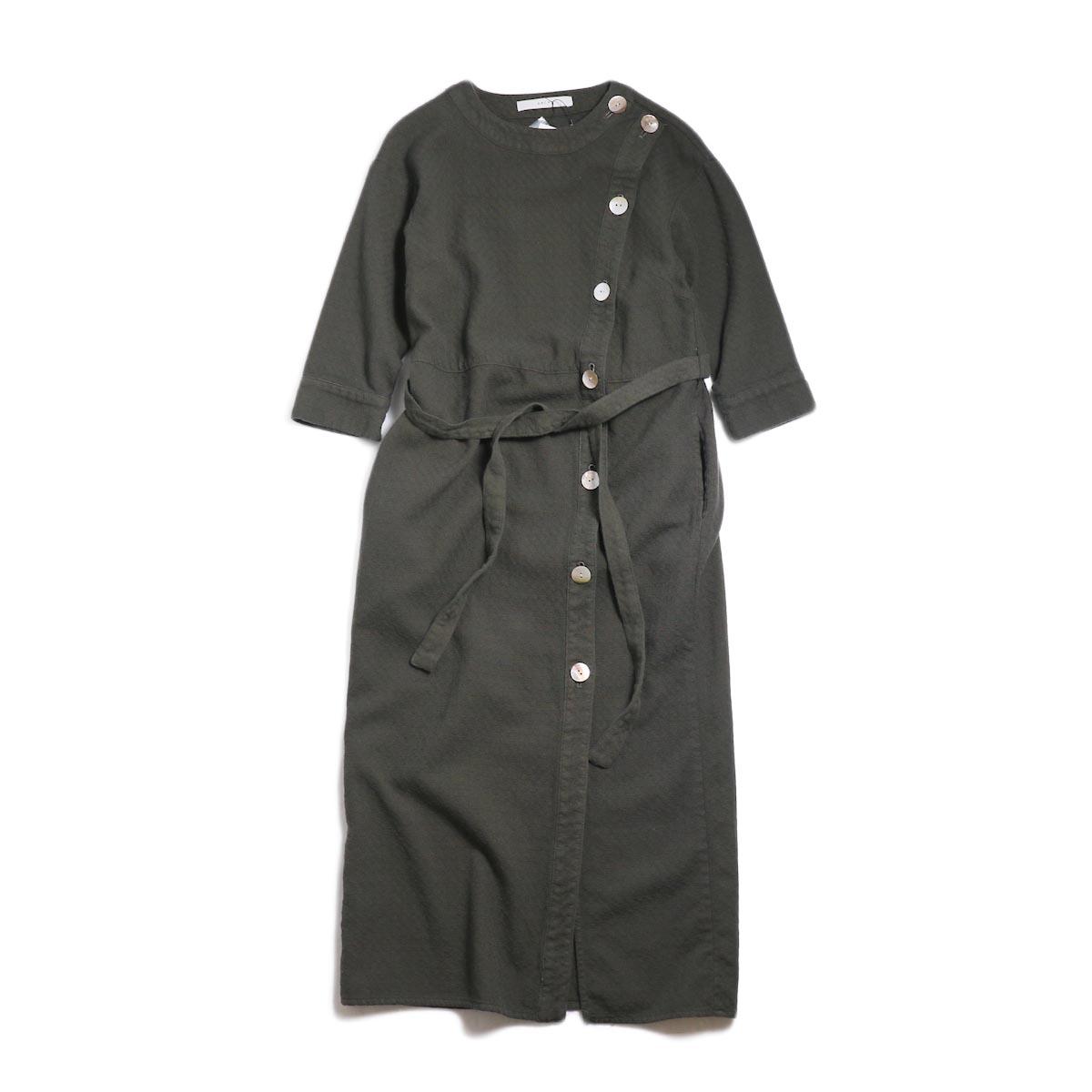 archi / Cuphea Long Shirt -Charcoal Gray