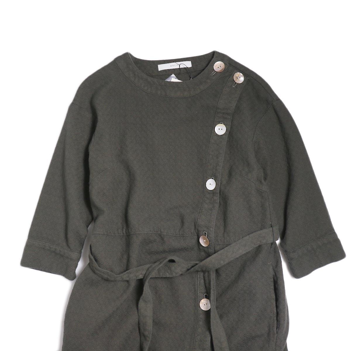archi / Cuphea Long Shirt -Charcoal Gray フロント