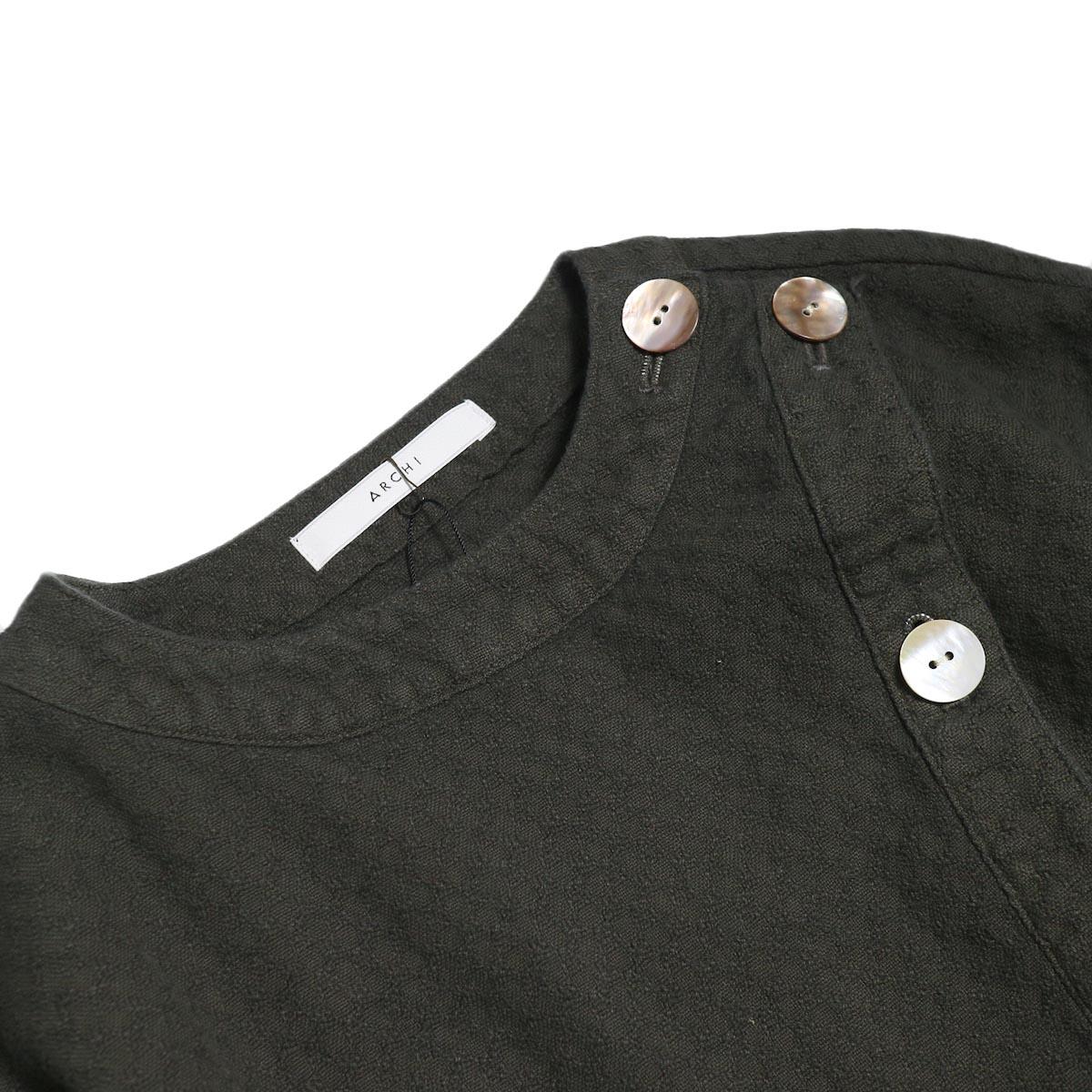 archi / Cuphea Long Shirt -Charcoal Gray 襟