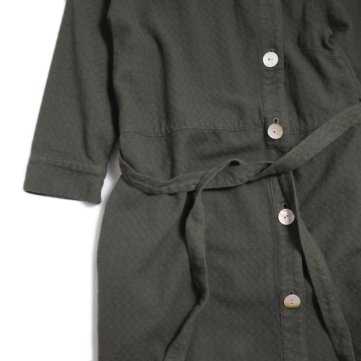 archi / Cuphea Long Shirt -Charcoal Gray 袖、ウエスト