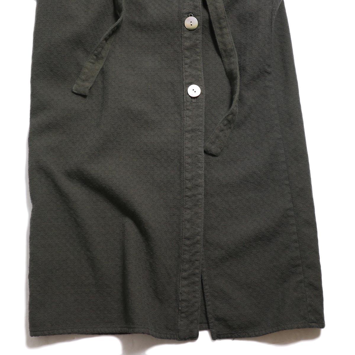 archi / Cuphea Long Shirt -Charcoal Gray 裾