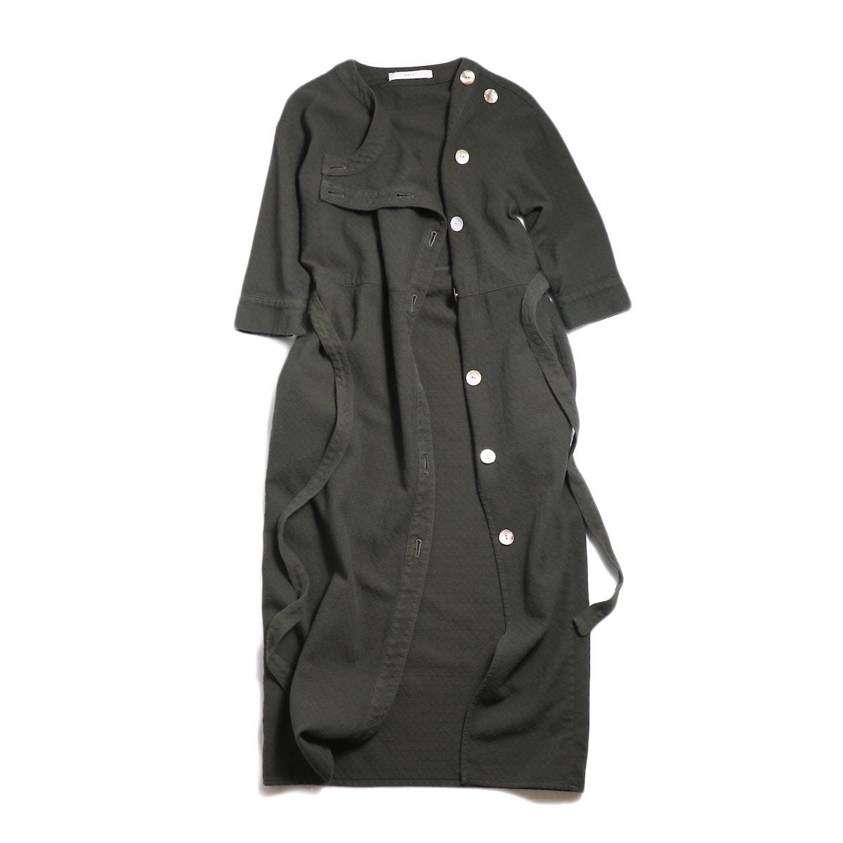 archi / Cuphea Long Shirt -Charcoal Gray フロント開
