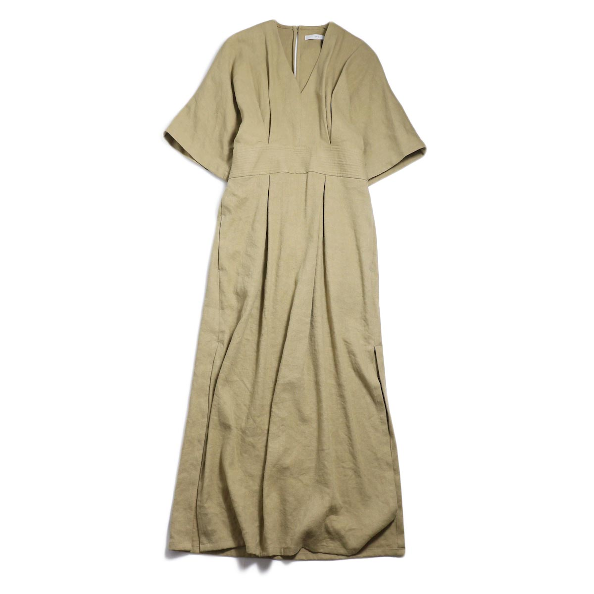 archi / Yucca Long Onepiece -Beige 正面