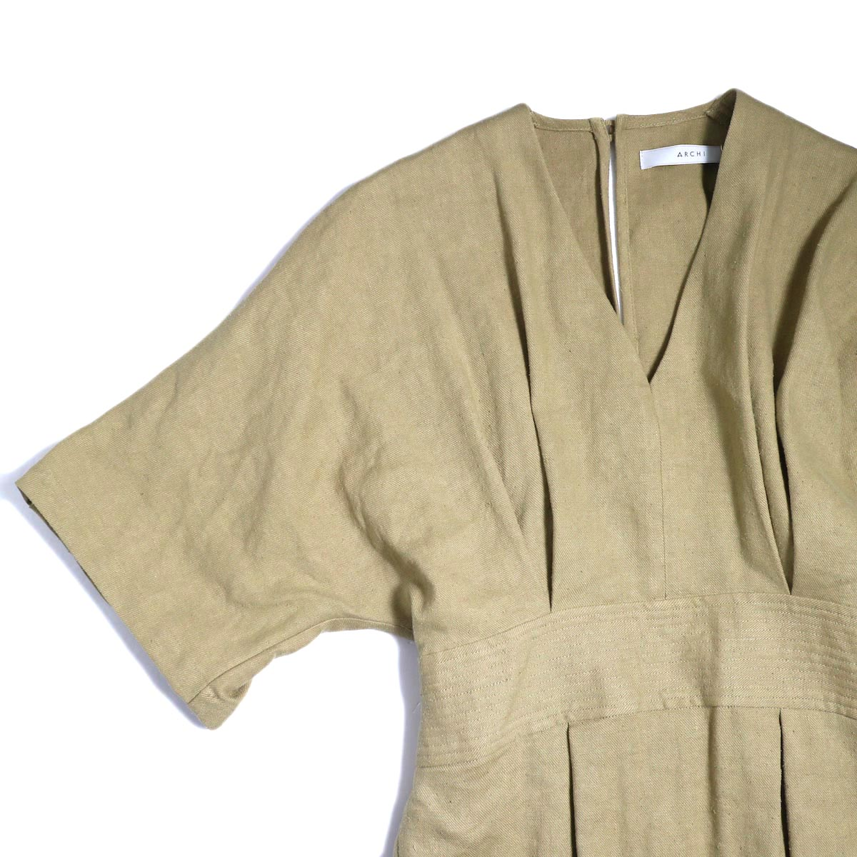 archi / Yucca Long Onepiece -Beige 袖