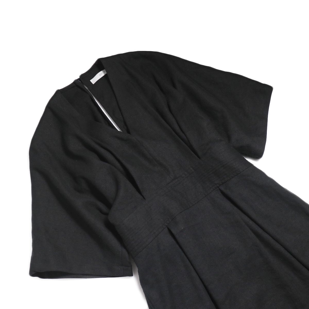 archi / Yucca Long Onepiece -Black フロント