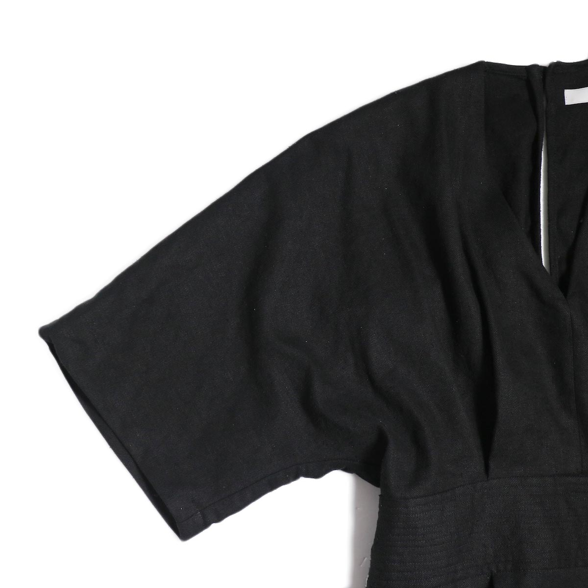archi / Yucca Long Onepiece -Black 袖