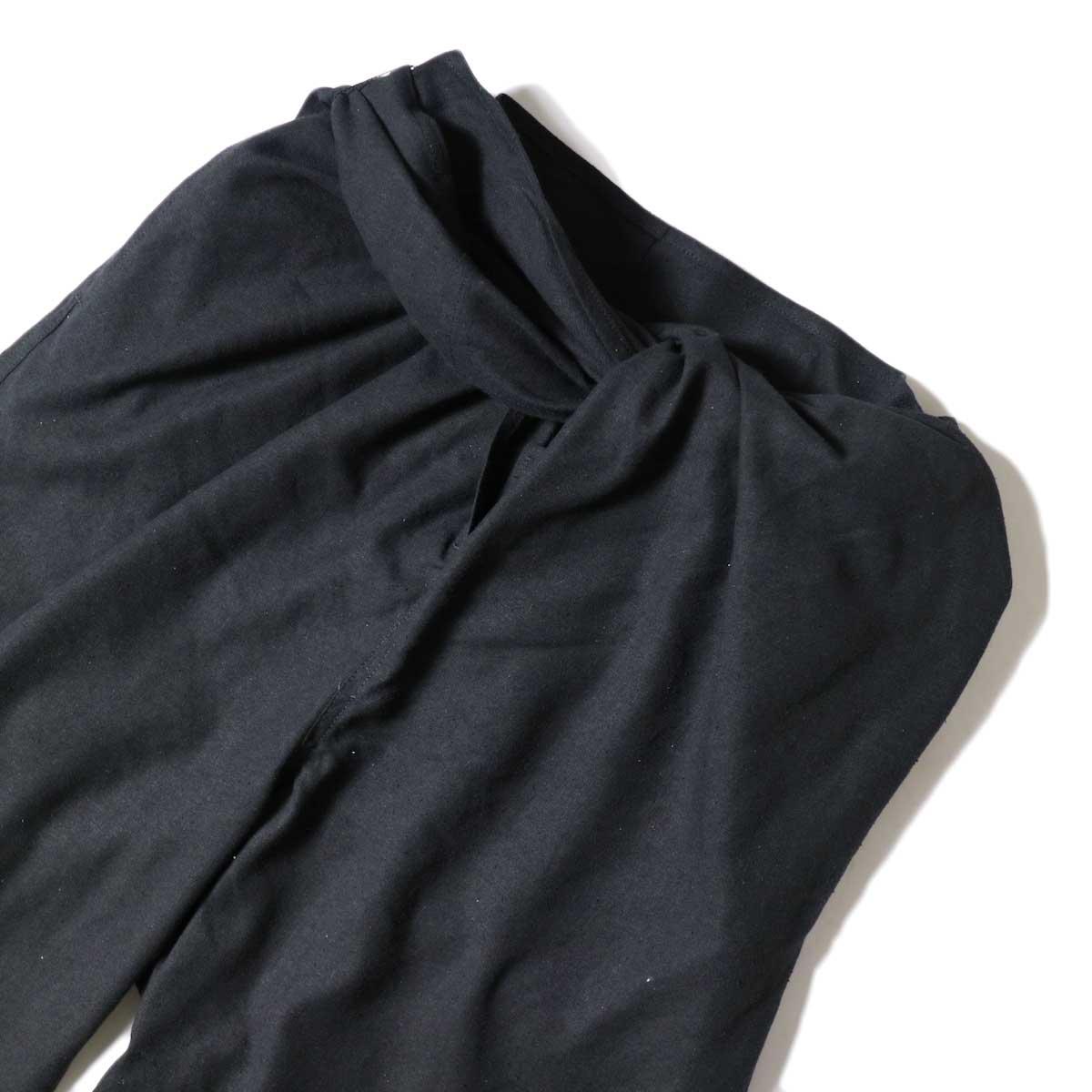 ARCHI / S/L NEP WRAP SLACKS (Black) ウエスト絞り