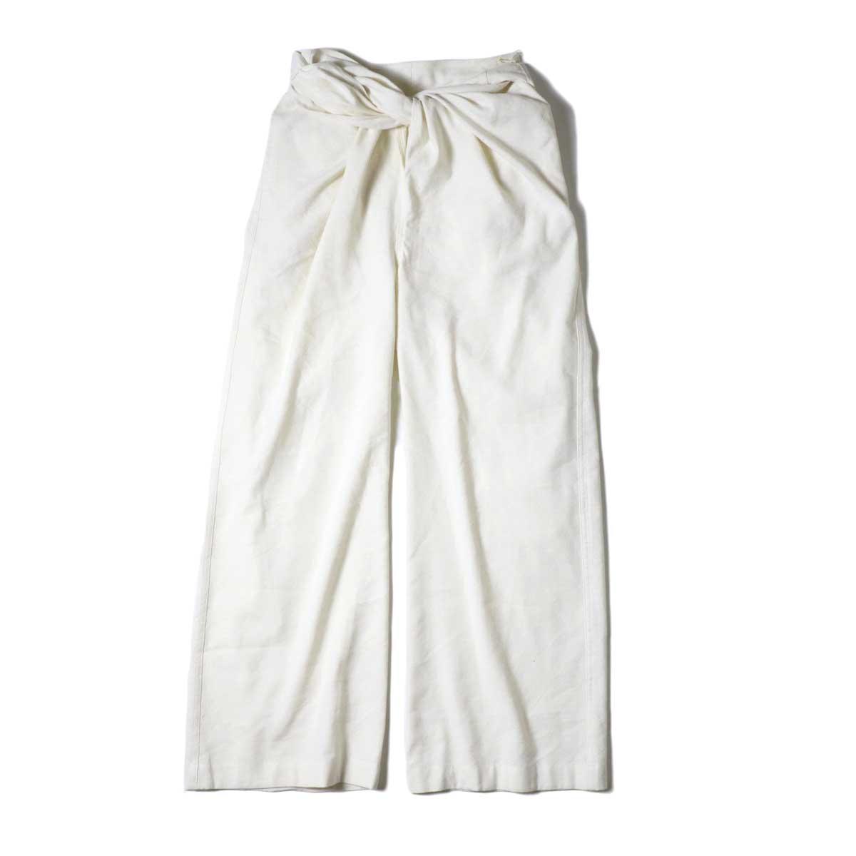 ARCHI / S/L NEP WRAP SLACKS (White)