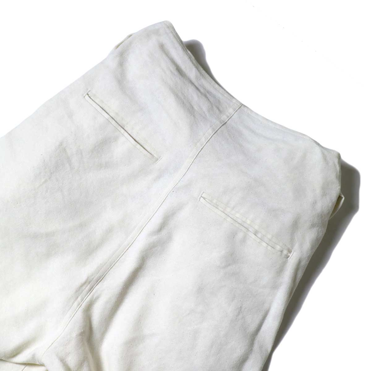 ARCHI / S/L NEP WRAP SLACKS (White) ウエスト背面②