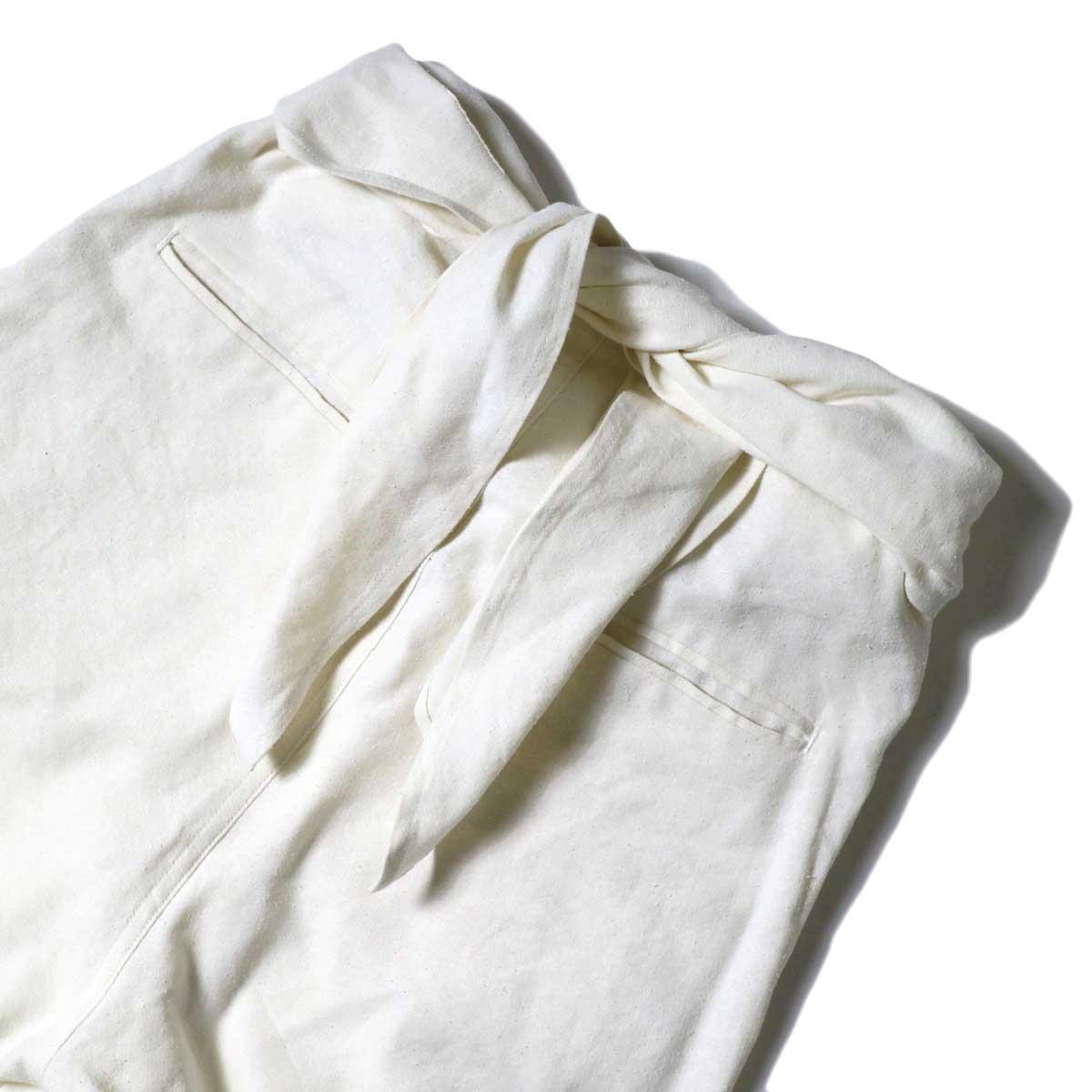 ARCHI / S/L NEP WRAP SLACKS (White) ウエスト背面①