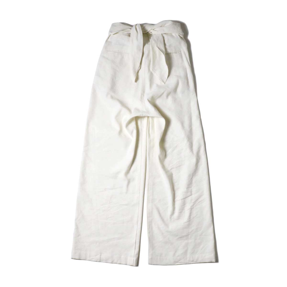 ARCHI / S/L NEP WRAP SLACKS (White) 背面
