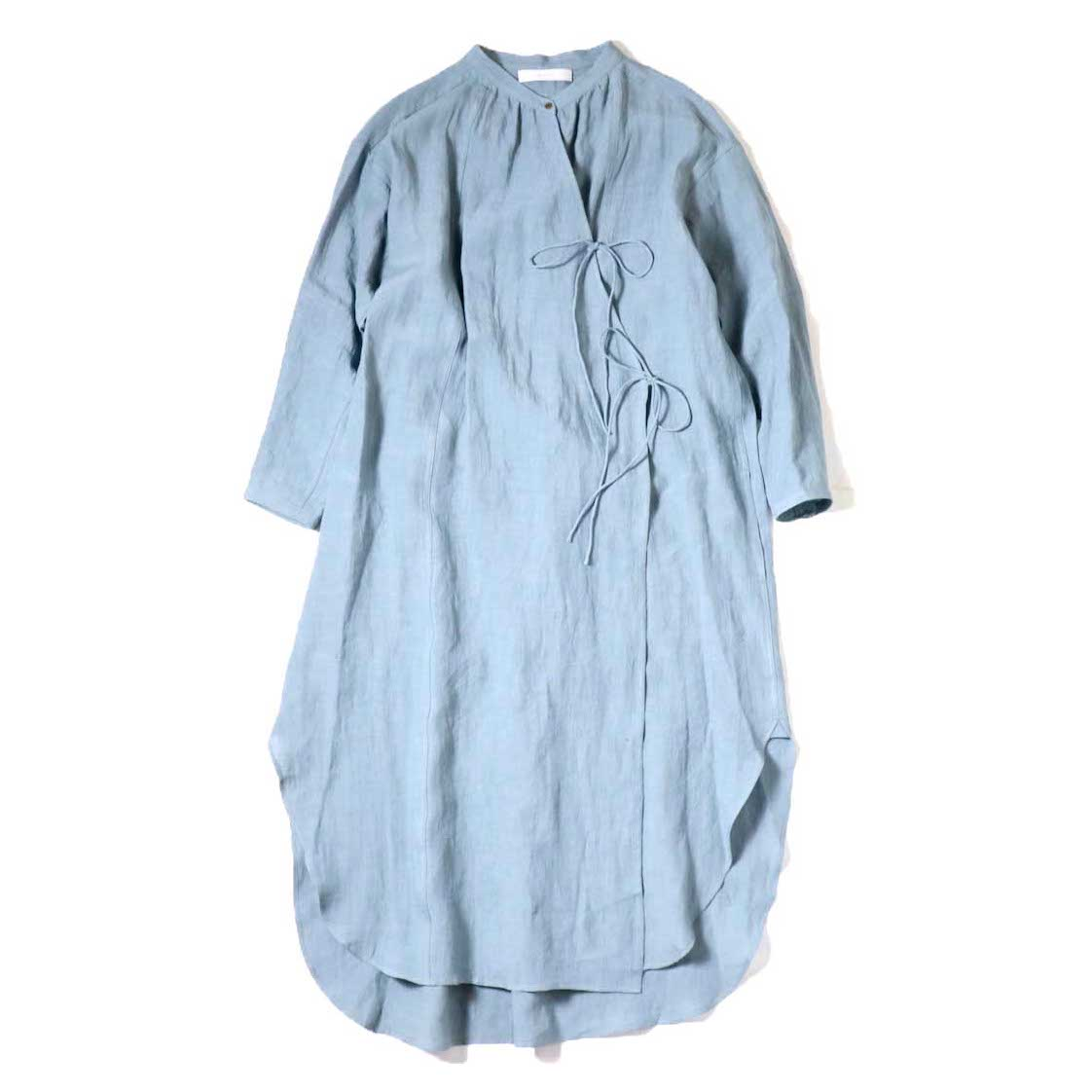 ARCHI / WASHER LINEN STACK GOWN (Sax)