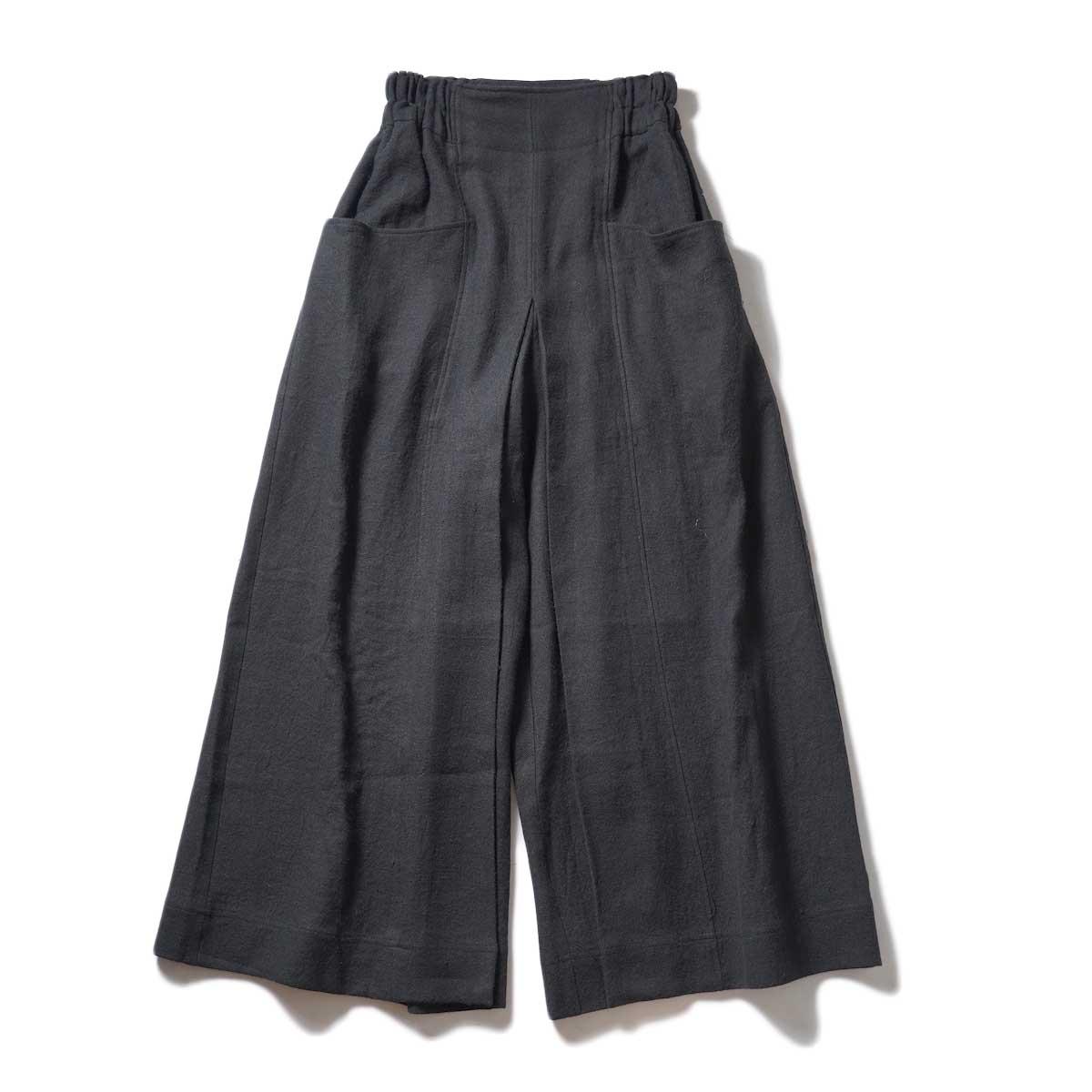 ARCHI / SOFT TWIST TWILL WIDE TACK PANTS (Black)