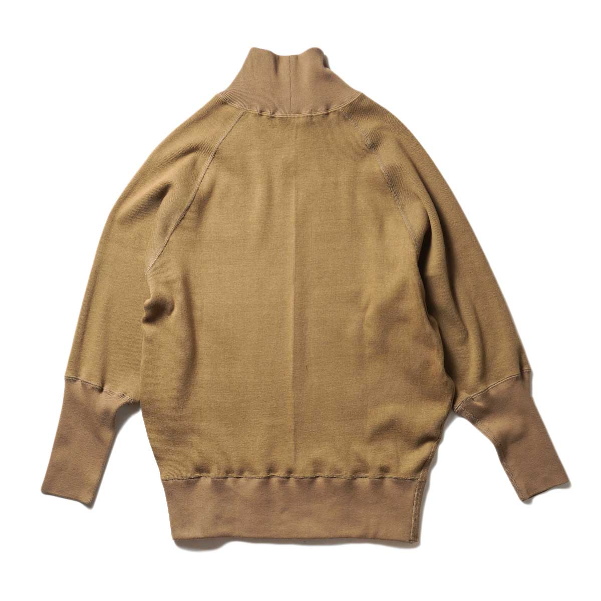 ARCHI / CIRCULAR RIB HIGH NECK TOP (Khaki) 背面