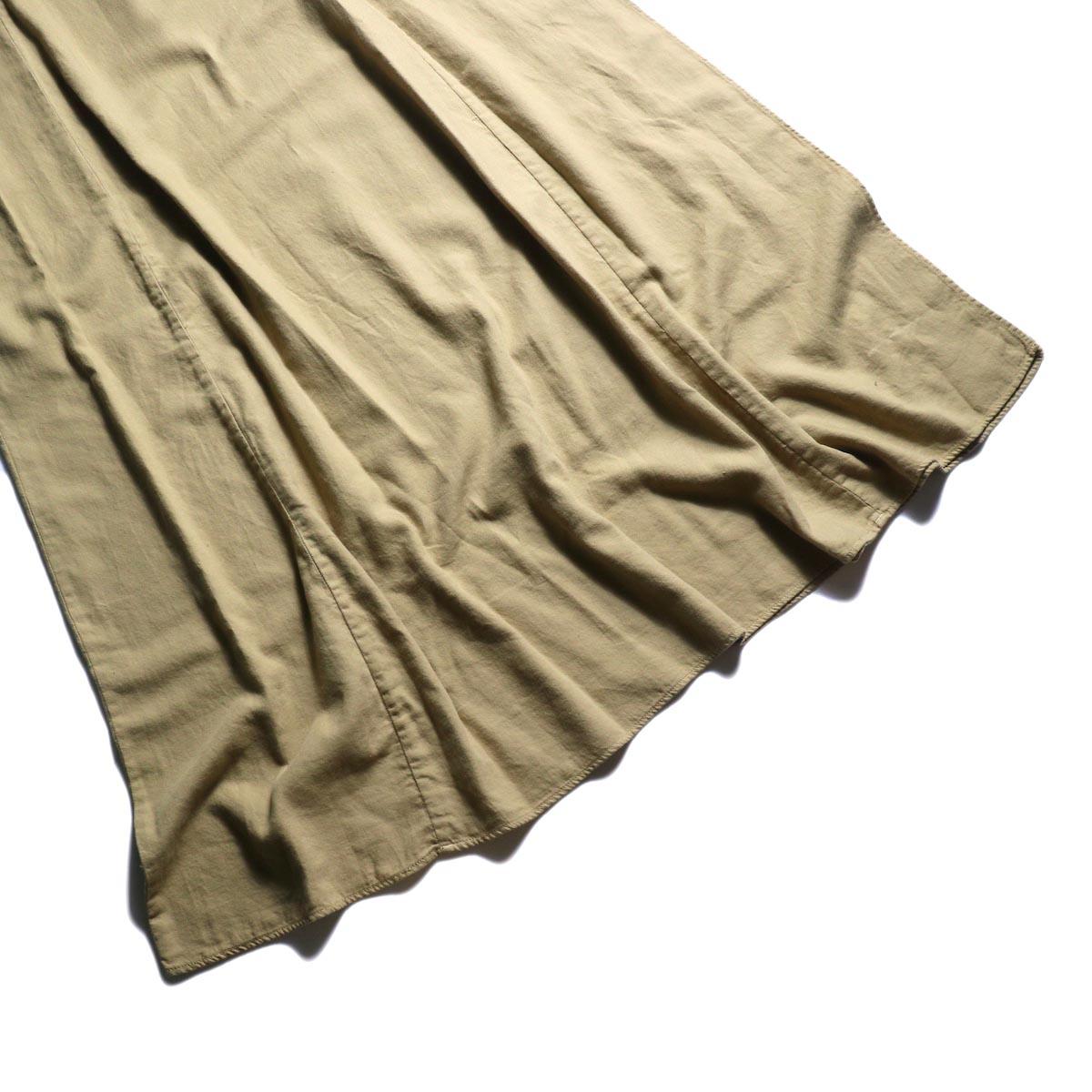 ARCHI / SKIMIA QUILT DRESS (beige) 裾