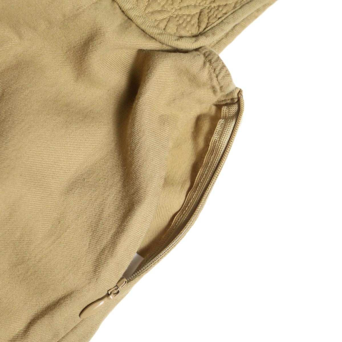 ARCHI / SKIMIA QUILT DRESS (beige) サイドファスナー