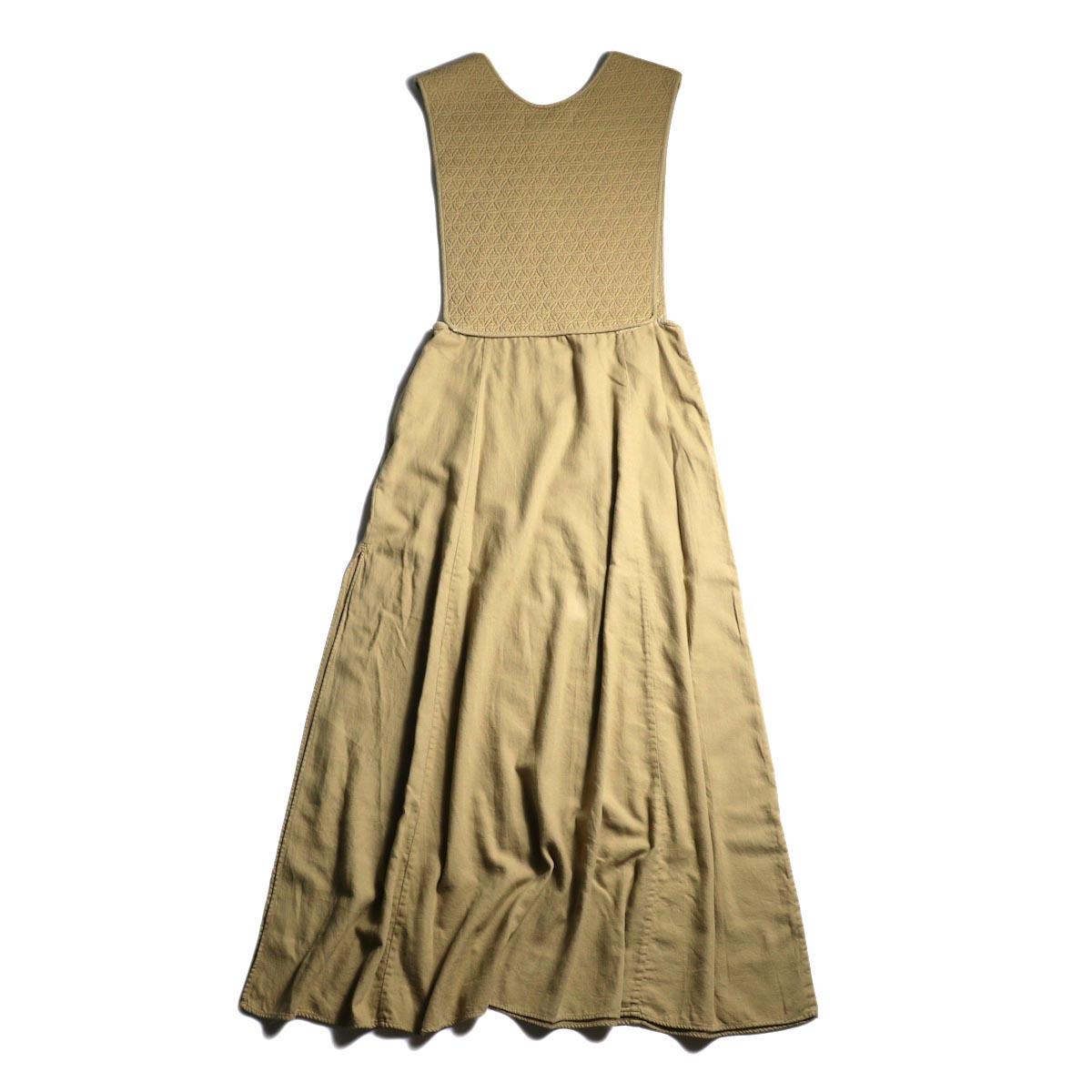 ARCHI / SKIMIA QUILT DRESS (beige) 背面