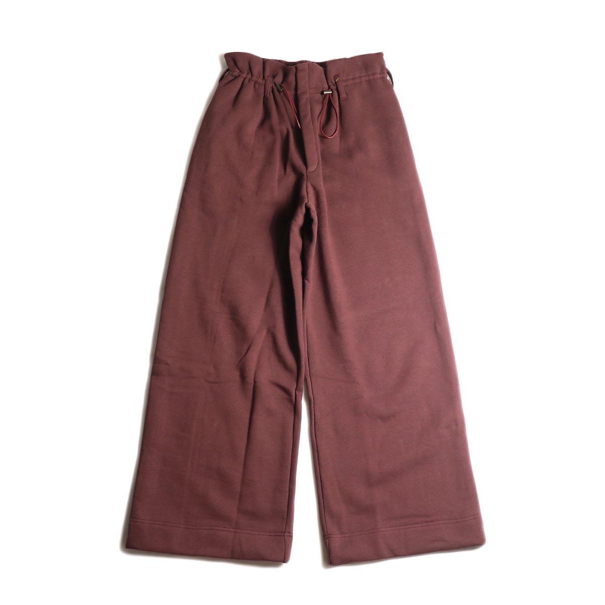 ARCHI /  VIBURMUM WIDE PANTS (burgundy) 正面