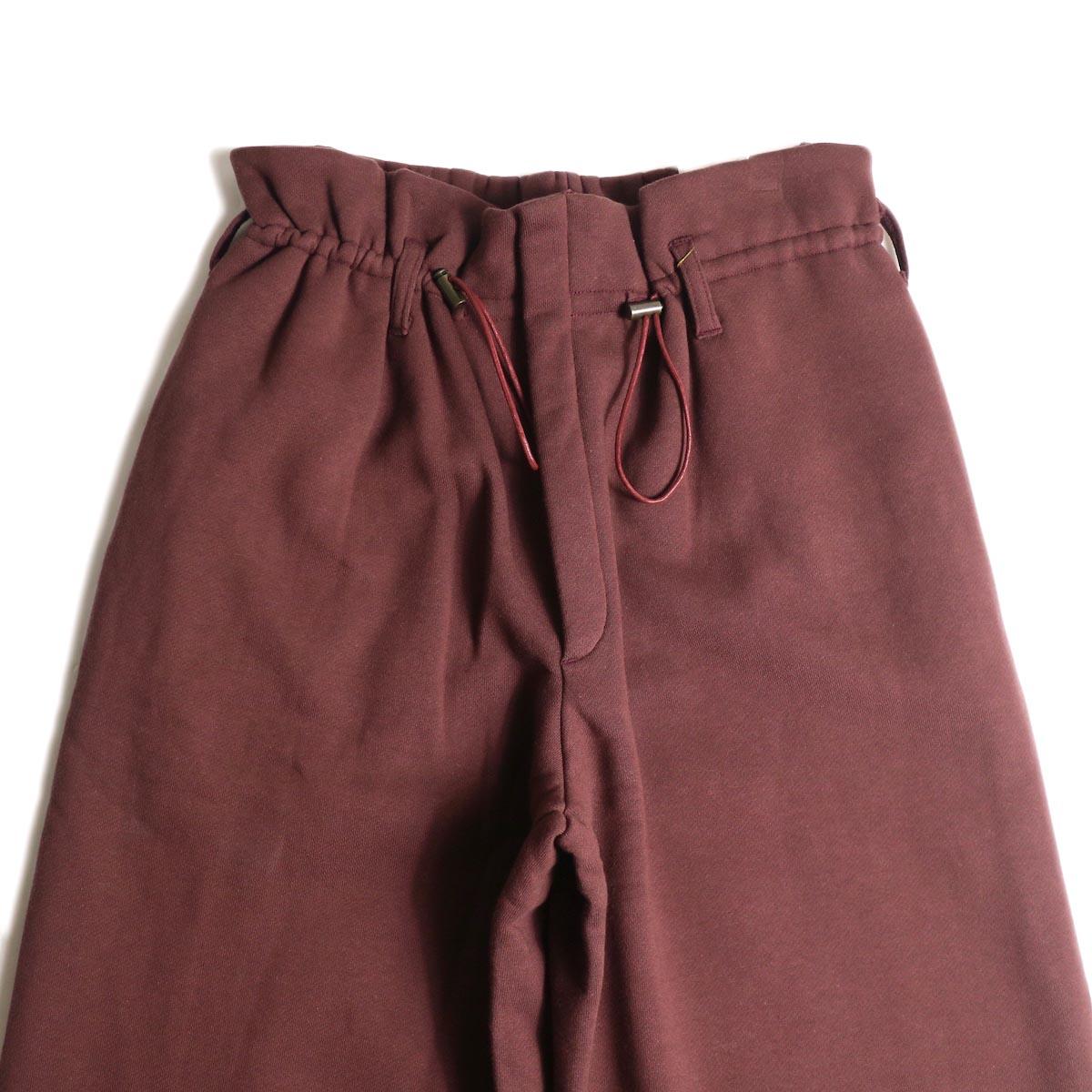 ARCHI /  VIBURMUM WIDE PANTS (burgundy) ウエスト