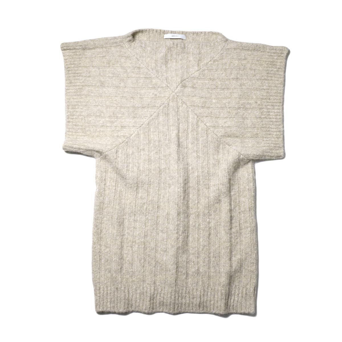 ARCHI / Harmsii Knit Tunic Top (white)